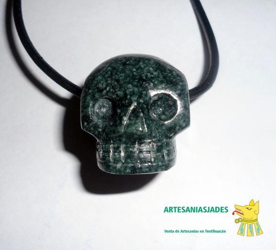 Craneo En Jade, Jade Jadeíta Verde Jaguar