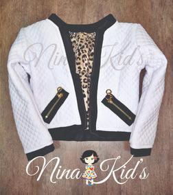 Casaco Luxo Menina Branco 02 Ao 10 Nina Kid