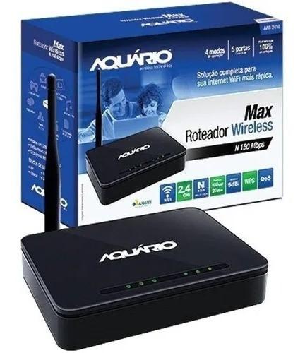 Imagem 1 de 1 de Roteador Wireless Max Aquario Apr-2410 N 150 Mbps
