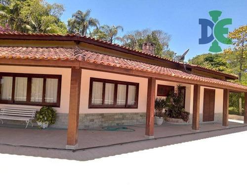 Imagem 1 de 30 de Chácara Com 5 Dormitórios Para Alugar, 4634 M² Por R$ 8.000,00/mês - Chácaras Condomínio Recanto Pássaros Ii - Jacareí/sp - Ch0076