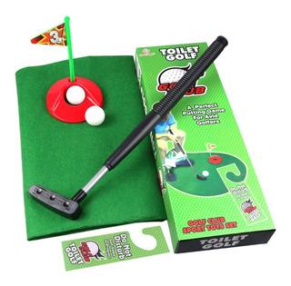 Juego Mini Golf De Baño Toilet Potty Putter Set Completo