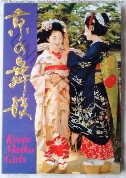 Lote 12 Postal Antigua Japón Kyoto Maiko Girls Muy Raras ´85