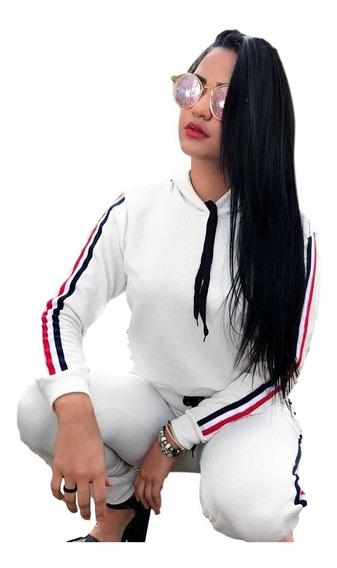 Conjunto Feminino Calça E Jaqueta Com Capuz. Cód-422