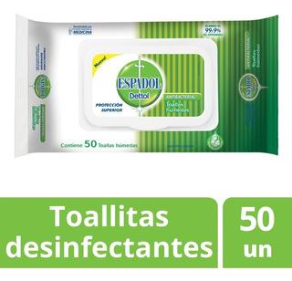 Espadol Dettol - Toallas Antibacteriales X 50 U