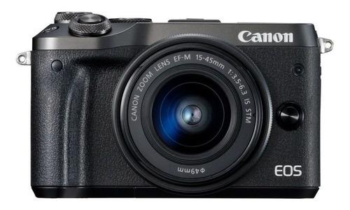 Canon EOS M6 15-45mm IS STM sin espejo color negro