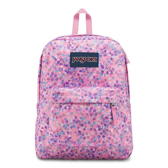 Jansport Superbreak - Mochila, Pink Sparkle Dot, Una Talla