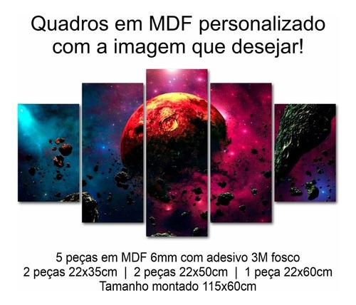 Quadro Decorativo Decoração Espaço Universo Planeta Mdf 6mm