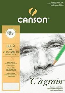 Canson C/àgrain Bloc de dibujo A3-29.7 x 42 cm