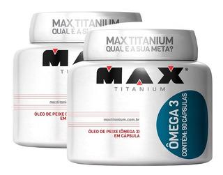 2x Omega 3 Óleo De Peixe 90caps Meg3 - Max Titanium