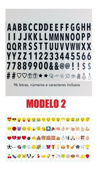 Cartela De Letra Letras Numeros E Emoji P/light Box A4 Ou A5