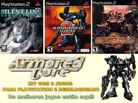 Kit Com 3 Jogos Armored Core - Playstation 2