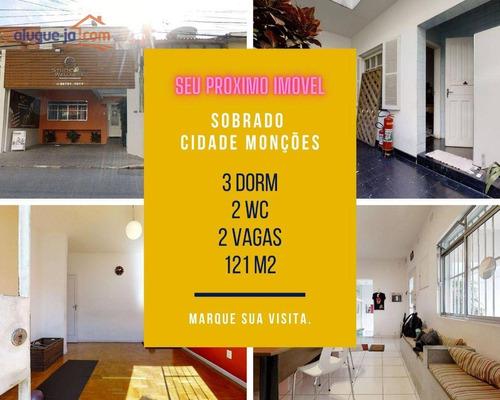 Imagem 1 de 30 de Sobrado Comercial A Venda, 3 Salas, 2 Wc, Cidade Monções,  Na Zona Sul - So1764