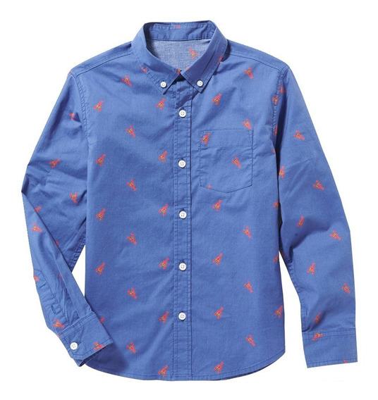 Camisa Niño Casual Manga Larga Estampada 394238 Old Navy
