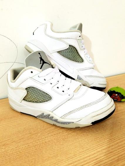 Tenis Air Jordan Retro 5 Low Para Niño Talla 20.5 Cm