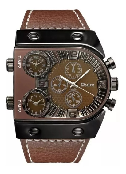 Relógio Masculino Luxo Marrom Frete Grátis
