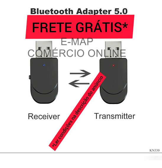 Adaptador Transmissor Carro Tv Fone Bluetooth P2 Usb Kn330