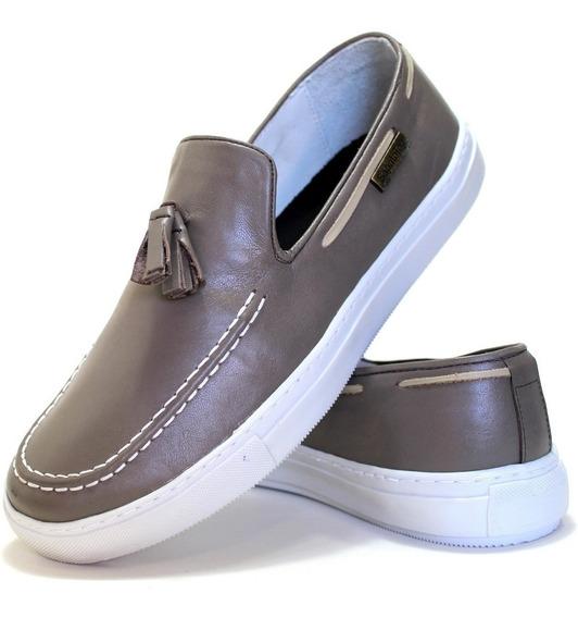 Sapato Masculino Casual Mocassim Esporte Fino Couro Legitimo