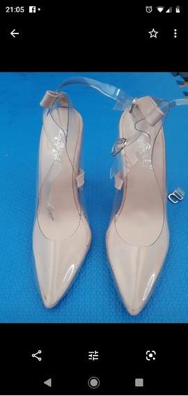 Sapato Scarpim Transparente Importado Novo Tam 35