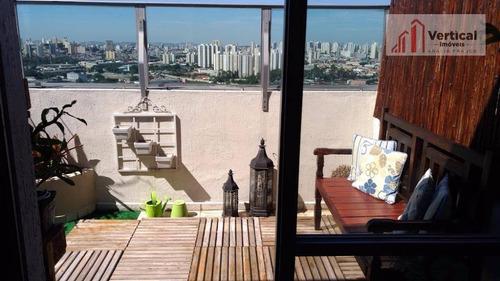 Cobertura À Venda, 110 M² Por R$ 520.000,00 - Parque Novo Mundo - São Paulo/sp - Co0324