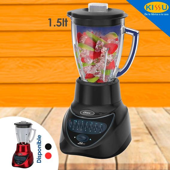 Licuadora Oster 450w Vaso De Vidrio 1.5 Litros Negra O Roja