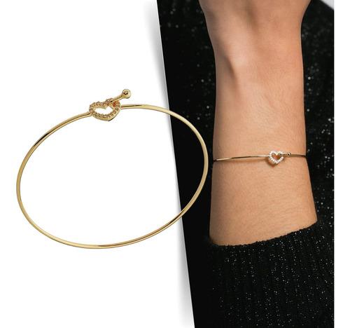 Imagem 1 de 5 de Bracelete Coração - Dourado