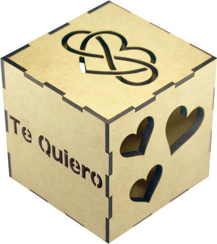 Imagen 1 de 4 de Uniquebox Te Quiero Caja De Luz Regalo Personalizable