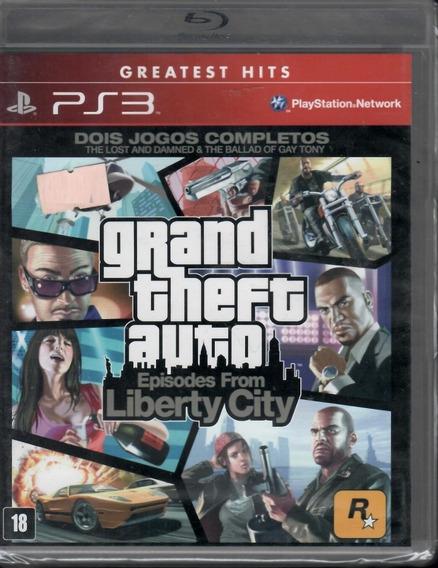 Gta Episodes From Liberty City Grand Theft Auto Ps3 Novo
