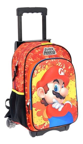 Mochilas Escolares Carrito Ruedas Chenson Super Mario 63657c