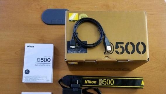 Nikon D-500 20.9 + Kit ( 64gb Tripé Bolsa Sb910 Grip )