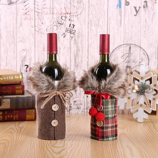 Cubiertas De Vino Tinto De Navidad De Moda Adorno Navideño