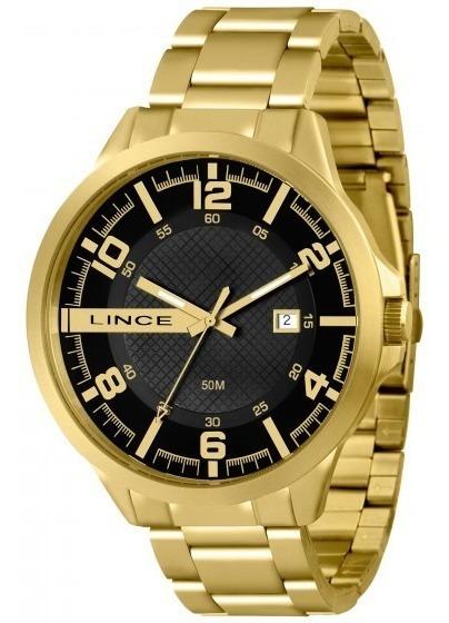 Relógio Lince Mrg4271s P2kx Masculino Dourado - Refinado