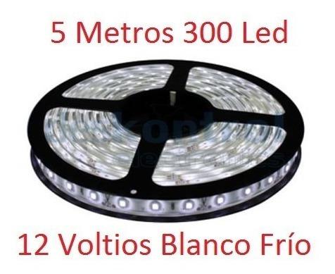 Tira Cinta Led 3528 Blanco Frío 5 Metros 300 Led 12 Voltios