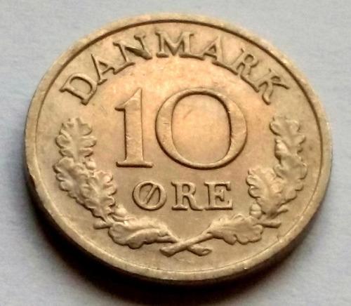 Moneda De Dinamarca, 10 Ore 1969.