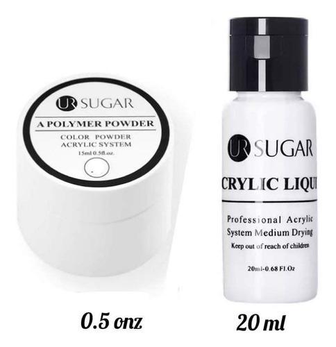 Polvo Acrílico + Monomero Acrylic Powder Uñas Acrílicas.