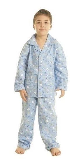 Pijama Niño Abotonado Prendido Frizado Puro Algodon Cuotas
