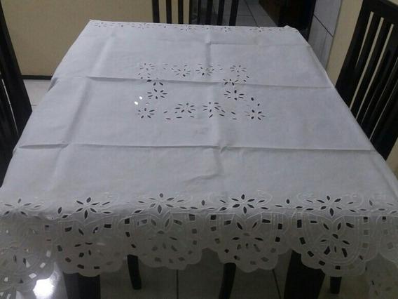 Toalha De Mesa De 4 Cadeiras 1,5m Rechilie Bordado Do Ceará