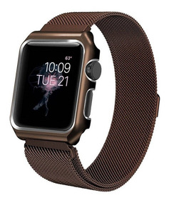 Pulseira Loop Milanese P/ Apple Watch 42mm | 44mm Brown
