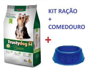 Ração Trustydog Adultos Raças Pequenas 3kg + Comedouro 300ml