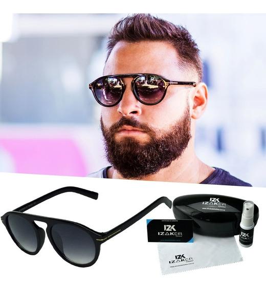 Oculos De Sol Masculino Redondo Solar Homem Proteção Uv 400