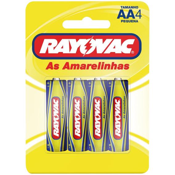 Pilha Rayovac Amarela/azul Pequena Cartela C/4 - 5 Cartelas