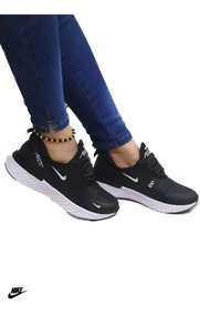 zapatillas negros mujer nike