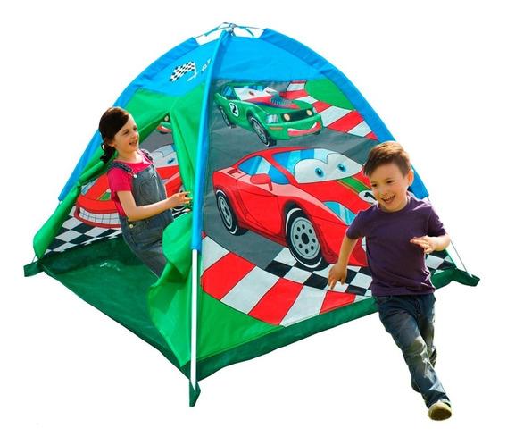 Carpa Casa Para Niños Tienda Autitos Zona Juegos Hst 3 Nenes