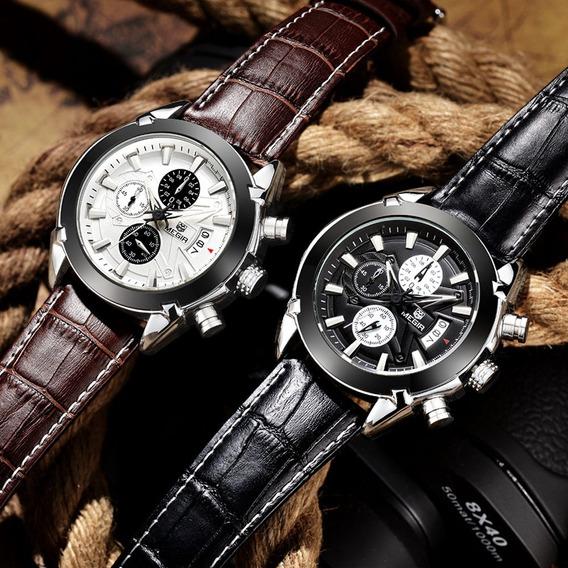 Relógio De Luxo Megir 2020 Cronógrafo Top Luxo 2 Cores