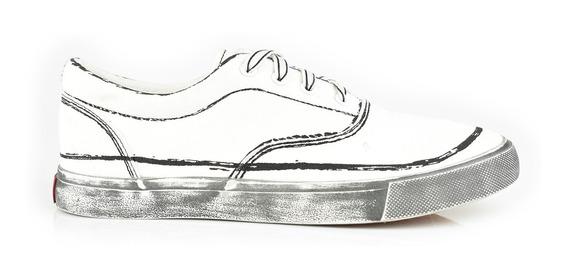 Tenis Urbanos Para Hombre Lob Footwear 901-9518 Blanco Nuevo Oi19
