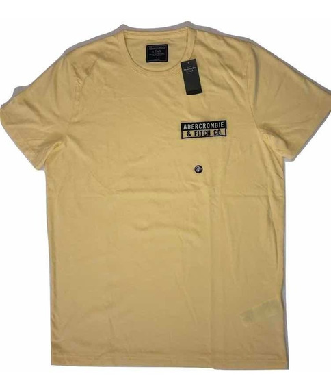 Playera Abercrombie And Fitch Amarilla Hombre Original