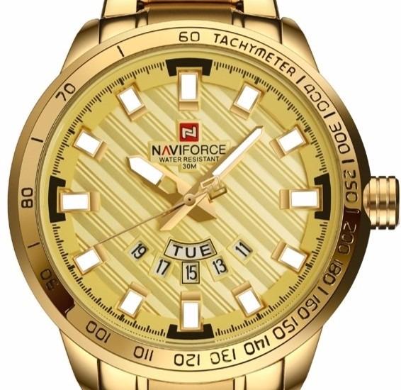 Relógio De Pulso Naviforce N9090 Dourado