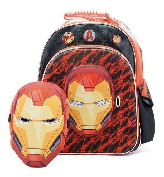 Mochila De Espalda Avengers Ironman Sp406 3d Lic Orig. 16