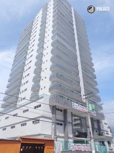 Apartamento Com 2 Dormitórios À Venda, 82 M² Por R$ 460.000,00 - Vila Assunção - Praia Grande/sp - Ap2452