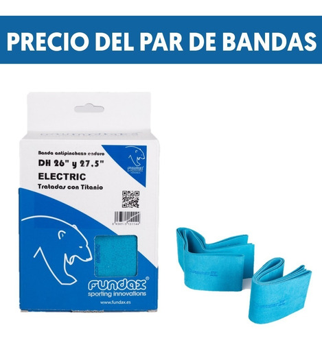 Pack 2 Bandas Antipinchazo Fundax 26 /27,5 +plus Electric Dh
