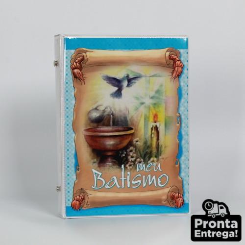Álbum Fotográfico 15x21 48 Fotos Batismo Menino